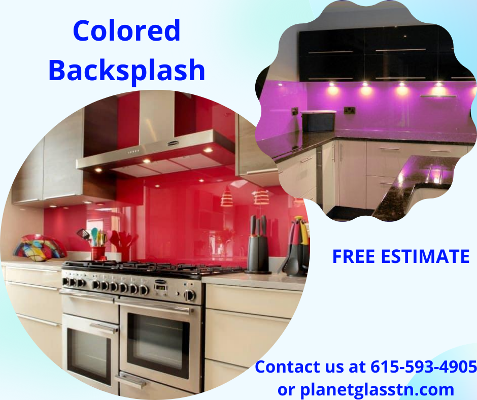 Colored Backsplash