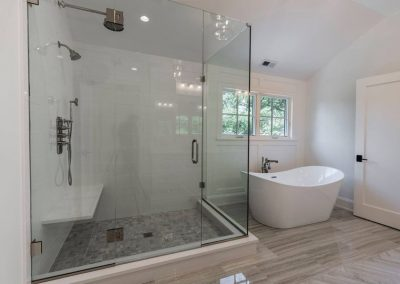 Beautiful Frameless Shower with New Glass Installed