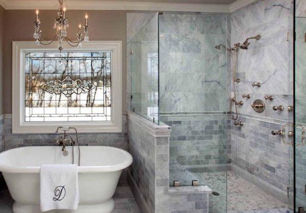 custom bathroom glass shower