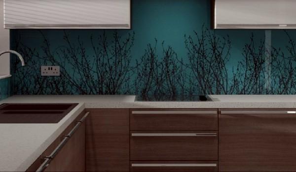 custom kitchen pattern glass blacksplash