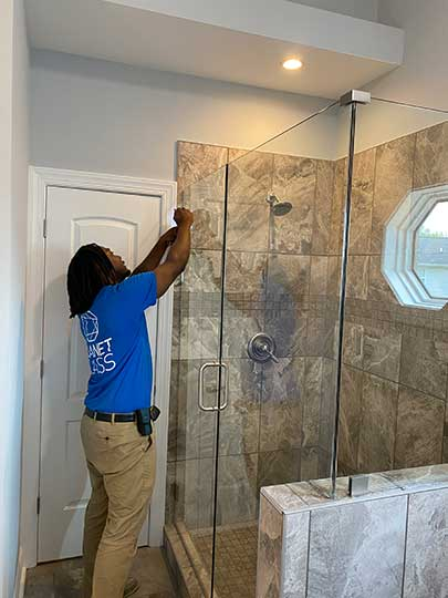 planet glass team repairs shower glass columbia tn